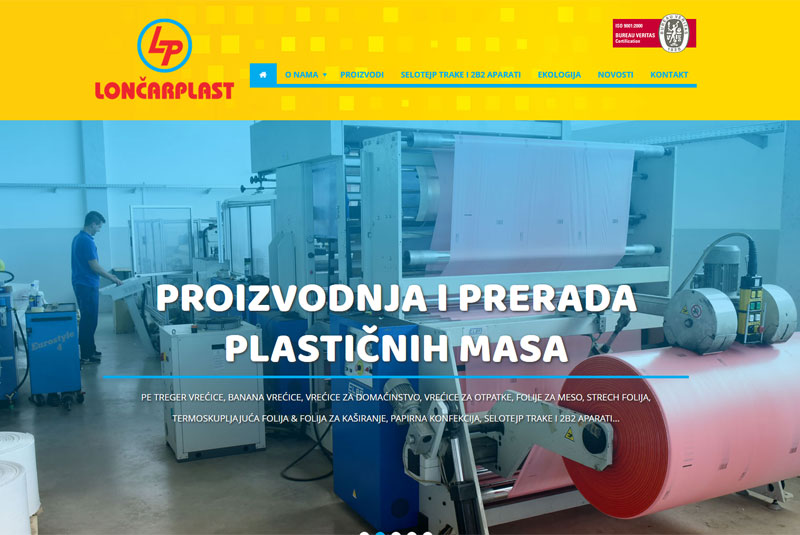Nove web stranice loncarplast.com